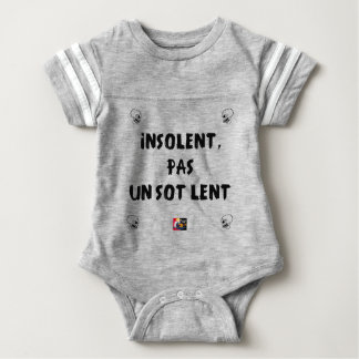 INSOLATE, NOT STUPID SLOW - Word games Baby Bodysuit