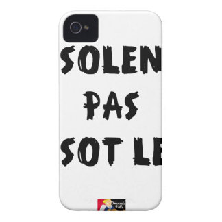 INSOLATE, NOT STUPID SLOW - Word games iPhone 4 Case