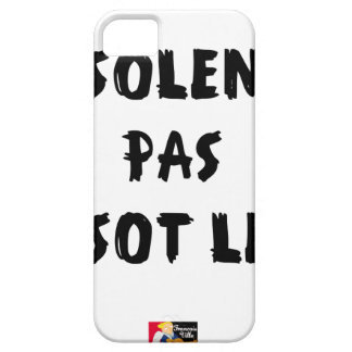 INSOLATE, NOT STUPID SLOW - Word games iPhone 5 Covers