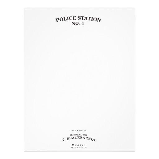 Inspector Brackenreid Stationery Custom Letterhead