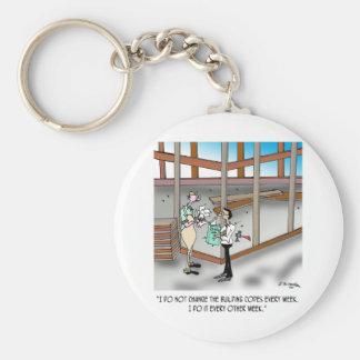 Inspector Cartoon 6382 Keychain