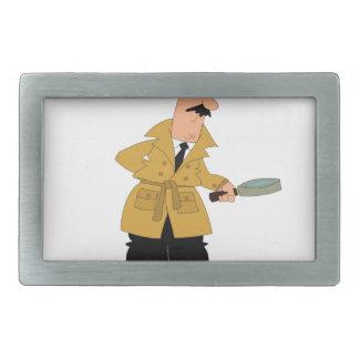 inspector man rectangular belt buckle