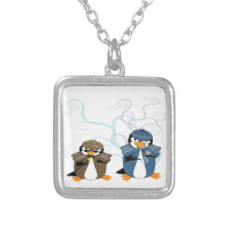 Inspector Penguin & Company Silver Plated Necklace