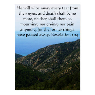 Inspiration and Strength Bible Verse Revelation 21 Postcard
