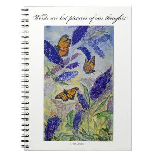 Inspiration Butterfly Watercolor Art Notebook