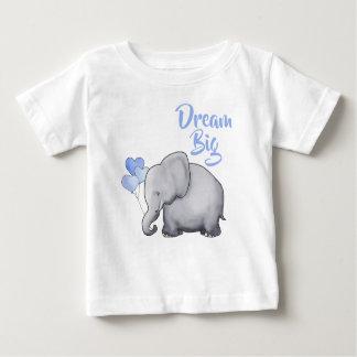 Inspiration Cute Dream Big Heart Balloons Elephant Baby T-Shirt