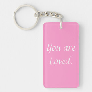 Inspiration Encouragement Dorm Girl College School Double-Sided Rectangular Acrylic Keychain