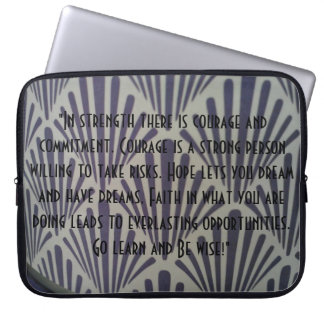 Inspiration for College Laptop Sleeve