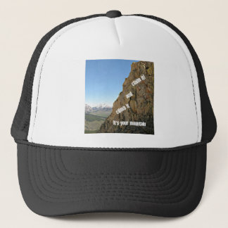 Inspiration for courage trucker hat