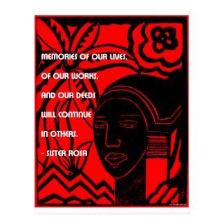 Inspiration from Sister Rosa Postcard