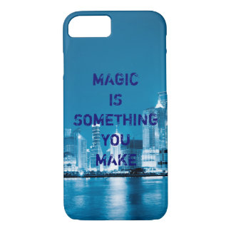 Inspiration hope quote city night background iPhone 7 case