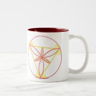 Inspiration Mandala #2 Two-Tone Coffee Mug