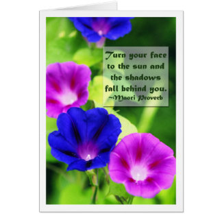 Inspiration - Morning Glories Greeting Card