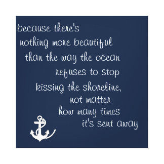 Inspiration Ocean Quote Gallery Wrap Canvas