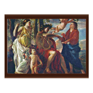 Inspiration Of The Poet,  By Poussin Nicolas Postcard