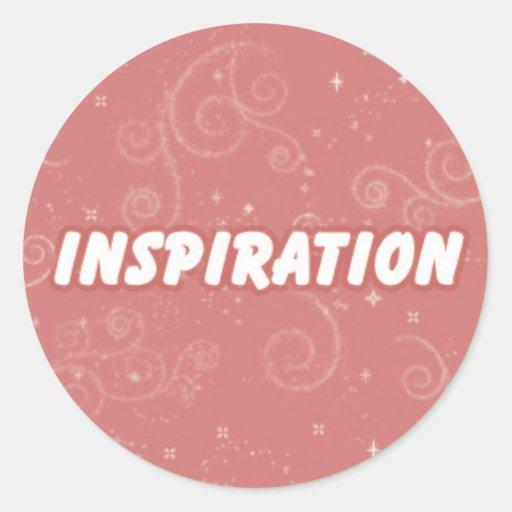 Inspiration on Pink Swirly Background Sticker