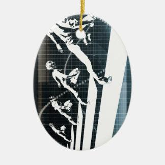 Inspiration or Inspirational Ideas as a Business Ceramic Oval Ornament