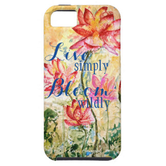 Inspiration Pink Floral Watercolor Art Phone Case