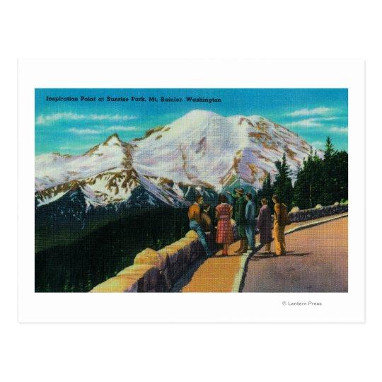Inspiration Point at Sunrise Park Postcard