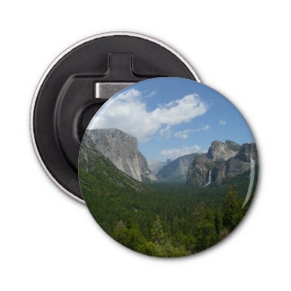 Inspiration Point in Yosemite National Park Button Bottle Opener