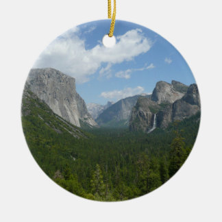 Inspiration Point in Yosemite National Park Round Ceramic Ornament