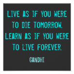 Inspiration Quote Poster Art Print
