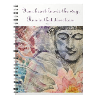 Inspiration Rumi Quote Buddha Art Spiral Notebook