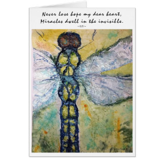 Inspiration Rumi Quote Dragonfly Art Greeting Card
