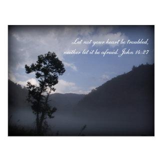 Inspiration scripture postcard Fontana, NC
