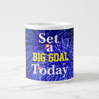 Inspiration - Set a Big Goal Today - Large Coffee Mug