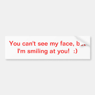 Inspiration Smiling Bumper Sticker