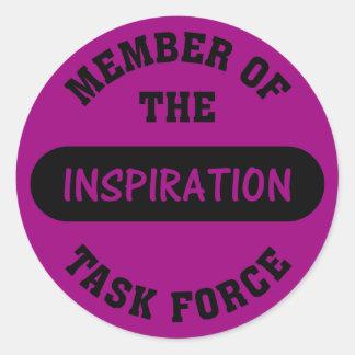 Inspiration Task Force Member Round Sticker