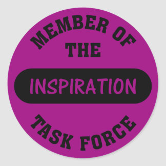Inspiration Task Force Member Classic Round Sticker