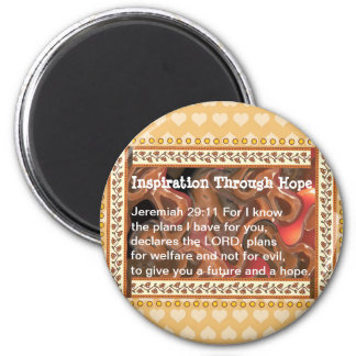 Inspiration Through Hope 2 Inch Round Magnet