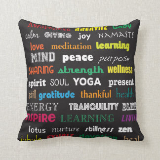 Inspiration yoga pillow