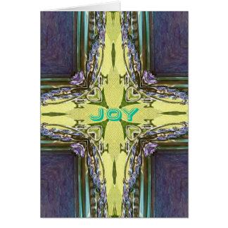 Inspirational Abstract Cross Center 'Joy' Shape Card