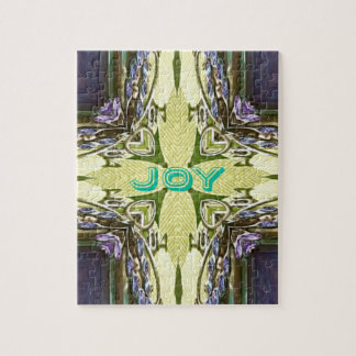Inspirational Abstract Cross Center 'Joy' Shape Puzzle