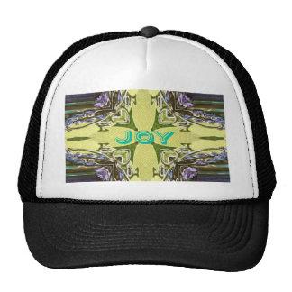 Inspirational Abstract Cross Center 'Joy' Shape Trucker Hat