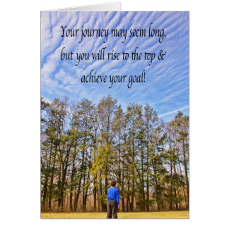 Inspirational Achieve Your Goal Clouds Card