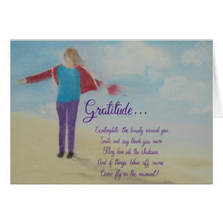 Inspirational and motivational cards: Gratitude... Card