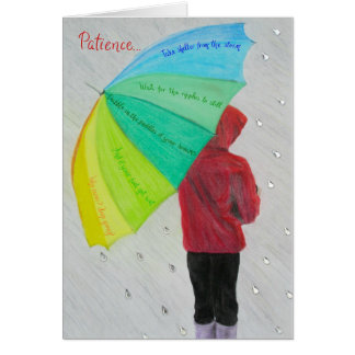 Inspirational and motivational cards: Patience... Card