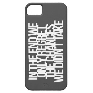 Inspirational and motivational quote iPhone 5 case