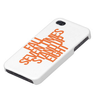 Inspirational and motivational quote case for iPhone 4