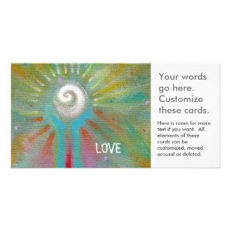 Inspirational art colorful fun modern hope love personalized photo card