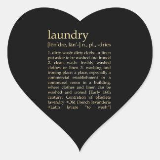 Inspirational Art - Laundry Process Heart Sticker