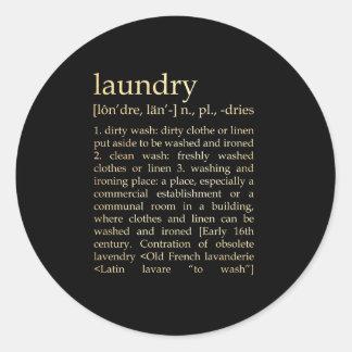 Inspirational Art - Laundry Process Round Sticker
