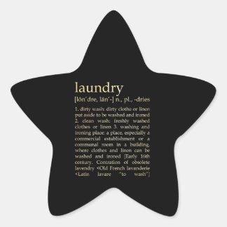 Inspirational Art - Laundry Process Star Sticker