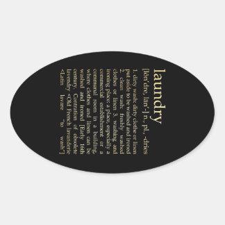 Inspirational Art - Laundry Process Oval Sticker