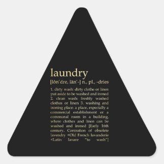 Inspirational Art - Laundry Process Triangle Sticker