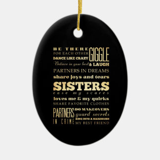 Inspirational Art - Sisters Ceramic Ornament